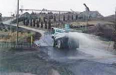 散水車による場内散水